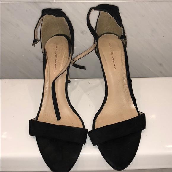 Zara Shoes | Zara Black Sandals | Poshmark